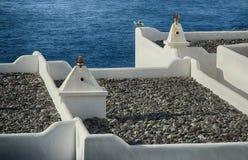 特内里费岛,白色大厦摘要  免版税库存图片