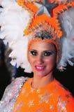 特内里费岛, 2月10日:字符和小组在狂欢节 免版税库存照片