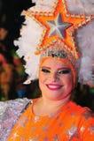 特内里费岛, 2月10日:字符和小组在狂欢节 库存图片