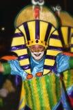 特内里费岛, 2月10日:字符和小组在狂欢节 免版税库存图片