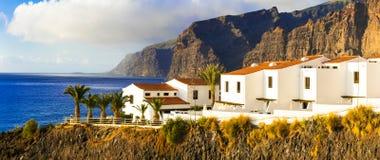 特内里费岛-豪华公寓在Los Gigantes地区 加那利群岛 库存图片
