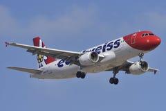 特内里费岛14 :飞机准备做着陆 2018年5月14日, 免版税图库摄影