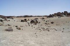特内里费岛加那利群岛teide月亮毁损 图库摄影