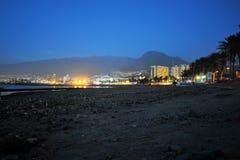特内里费岛在夜之前 免版税库存图片
