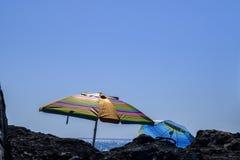 特内里费岛太阳遮阳伞 免版税图库摄影