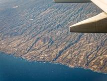 特内里费岛鸟瞰图 免版税库存照片