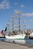 特内里费岛, 9月13日:墨西哥实习船靠了码头在口岸o 免版税库存图片