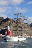 特内里费岛, 9月13日:墨西哥实习船靠了码头在口岸o 库存照片