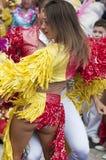 特内里费岛, 2月28日:字符和小组在狂欢节 免版税图库摄影