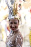 特内里费岛, 3月05日:字符和小组在狂欢节 免版税库存图片