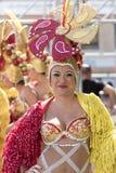 特内里费岛, 3月05日:字符和小组在狂欢节 图库摄影