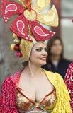 特内里费岛, 3月05日:字符和小组在狂欢节 库存照片