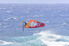 特内里费岛8月11日:冲浪的PWA, 2017年8月11日特内里费岛 免版税库存照片