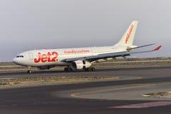 特内里费岛7月17日:对土地的飞机 2017年7月17日,特内里费岛金丝雀 免版税库存图片