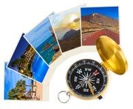 特内里费岛黄雀色图象和指南针 免版税库存图片
