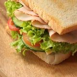 特写镜头三明治 免版税库存图片