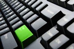 特写镜头关键董事会个人计算机视图 免版税库存照片