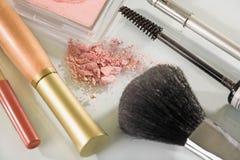 特写镜头化妆用品 库存图片