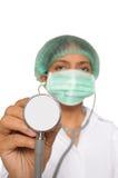 特写镜头医生女性印地安人 免版税库存照片