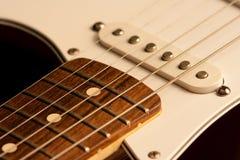 特写镜头吉他脖子 库存图片