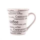 特写镜头咖啡查出的杯子白色 库存图片