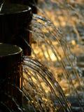 特写镜头喷泉水 免版税库存照片