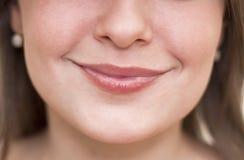 特写镜头嘴唇妇女 库存照片