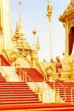 特写镜头在皇家火葬场附近的建筑学在2017年11月的04日泰国 免版税库存照片