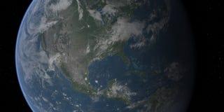 特写镜头地球美国 库存图片