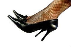 特写镜头女性鞋子 免版税库存照片