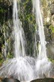 特写镜头小的瀑布 库存图片