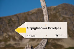 特写镜头山符号tatra线索 免版税图库摄影
