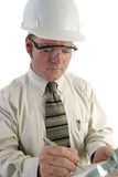 特写镜头工程师安全性 免版税库存照片