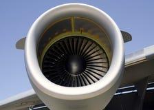 特写镜头引擎喷气机 库存照片