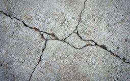 特写镜头打破或损坏用水泥涂地板 免版税库存图片