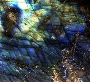 特写镜头拉布拉多矿物纹理 免版税库存照片