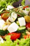 特写镜头新鲜的mediteranian沙拉 免版税图库摄影