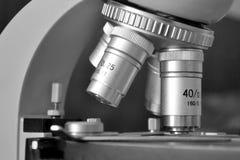 特写镜头显微镜 免版税库存照片