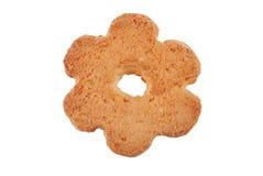特写镜头曲奇饼一照片白色 免版税库存图片