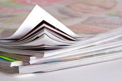 特写镜头杂志一些 免版税库存照片