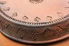 特写镜头泰国陶器瓦器 免版税库存照片