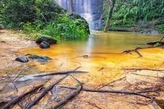 特写镜头瀑布landscrape精选的焦点,瀑布 库存照片