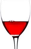 特写镜头玻璃红葡萄酒 免版税库存照片