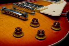 特写镜头电吉他 库存照片