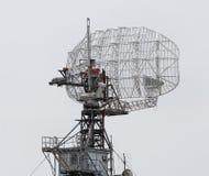 特写镜头盘雷达银 免版税库存图片