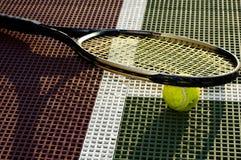 特写镜头网球 库存照片