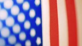特写镜头美国旗子 影视素材