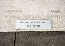特写镜头视图战争纪念碑致力所有战争的死者在退伍军人纪念庭院,达拉斯,得克萨斯的 免版税库存照片