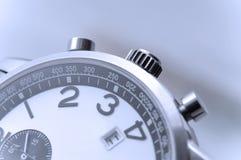 特写镜头详细资料现有量手表 库存图片