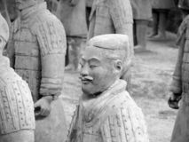 特写镜头赤土陶器战士 免版税库存照片